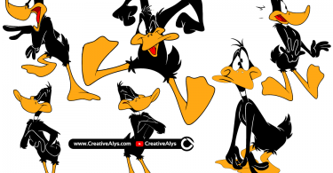 Daffy-Duck-Vector-Illustrations
