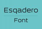 Esqadero-font