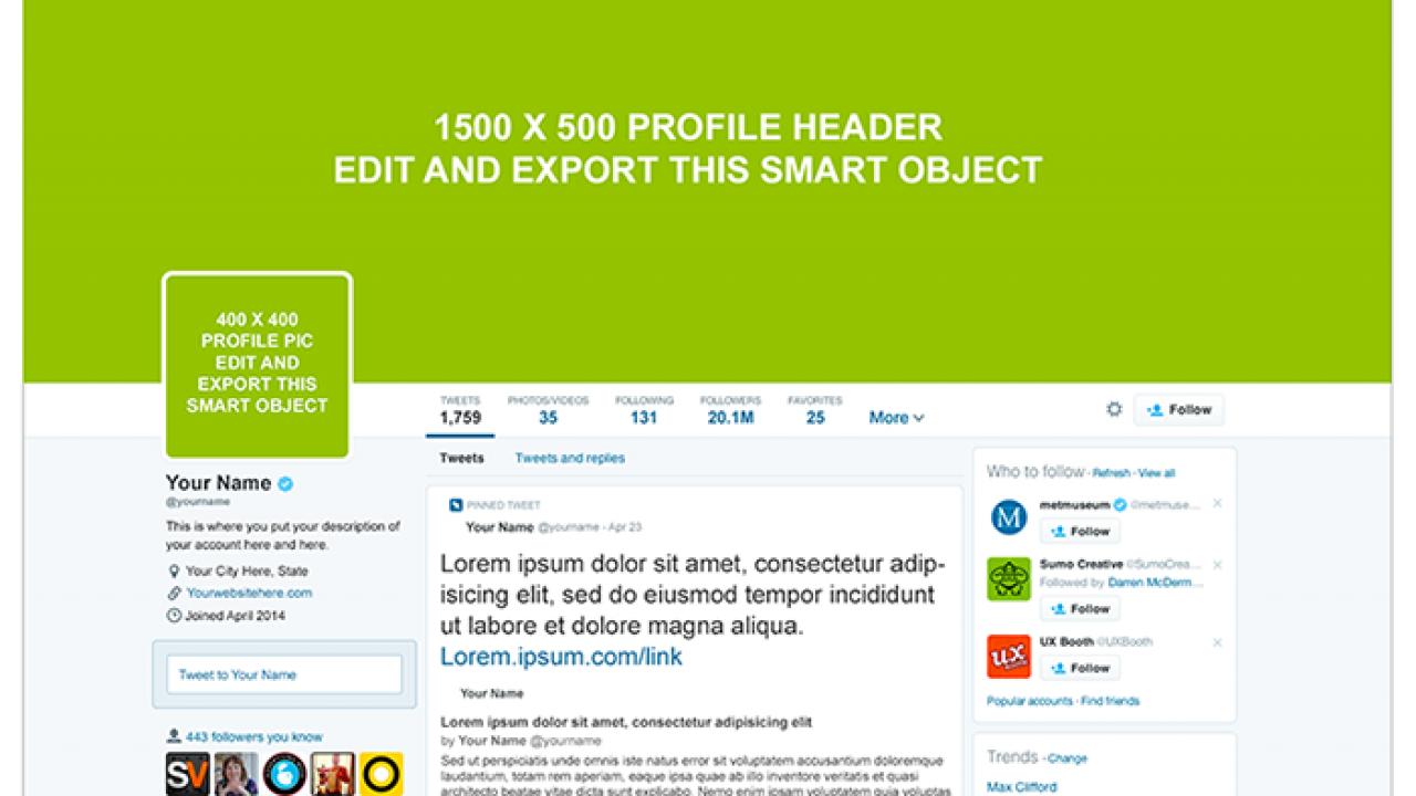 Twitter Profile PSD Mockup | Creative Alys