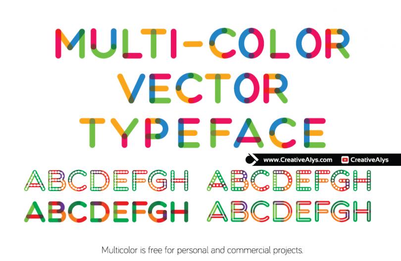 multicolor-vector-typeface