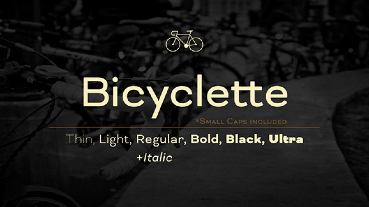 Bicyclette Font Family | Creative Alys