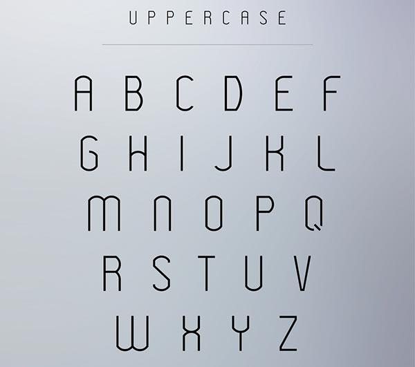 modeka-free-modern-typeface-uppercase