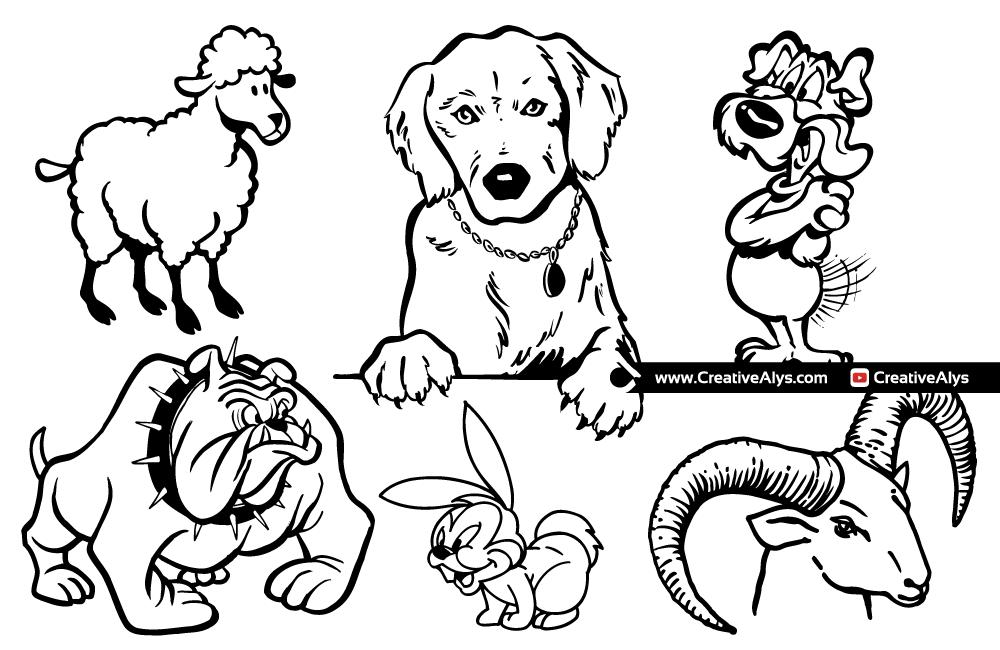 Animal Mascots for Logo Design