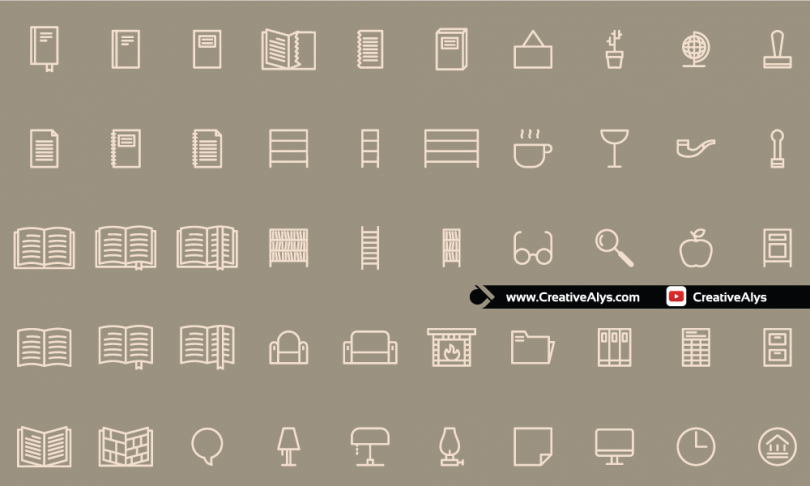 50-Free-Icons-Home-Library