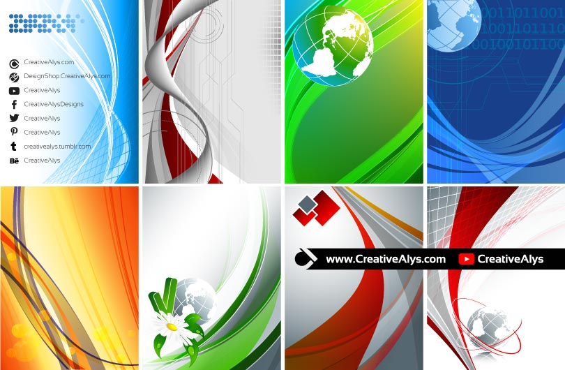 Creative Graphics Design Background: Abstract Vector Background Collection