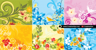 Beautiful-Floral-Background-Set