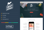 one-page responsive HTML5 template
