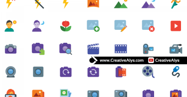 Photo-Video-Flat-Color-Icons