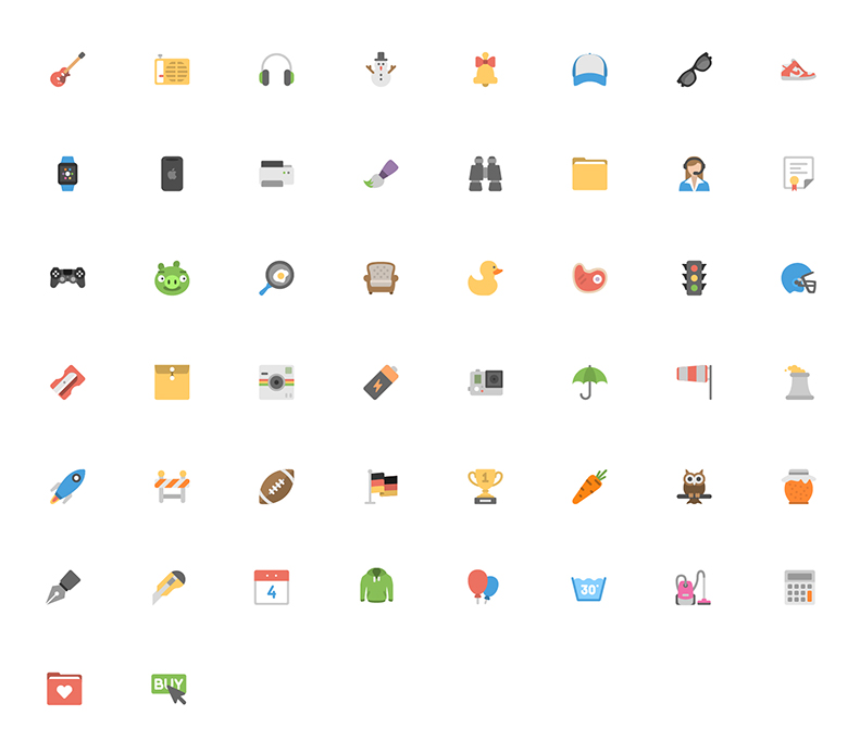 50-Free-Flat-Icon-Pack