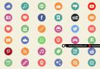 36-flat-social-media-web-icons