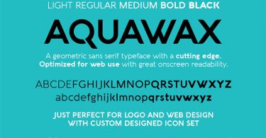 Aquawax-font