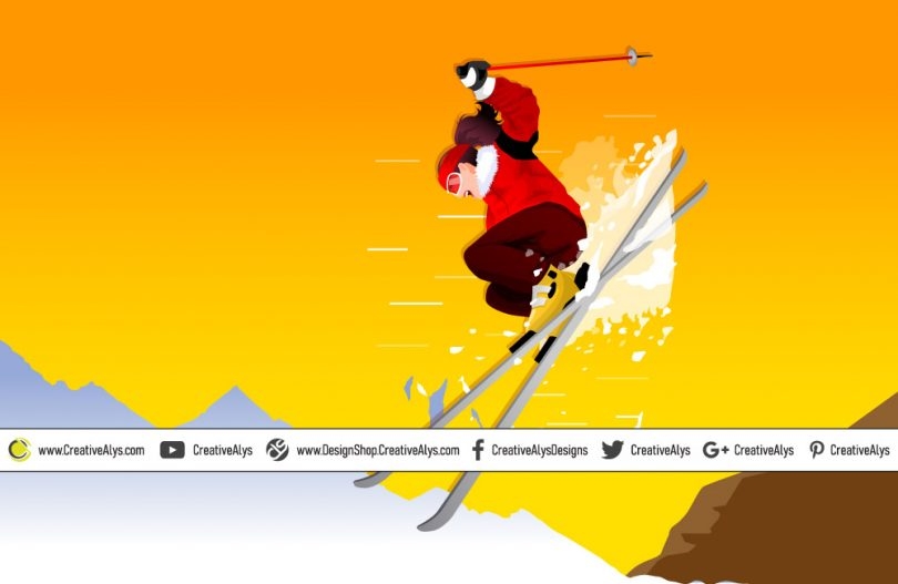 Skiing-Vector-Artwork