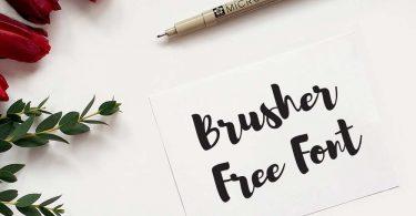 brusher-free-font