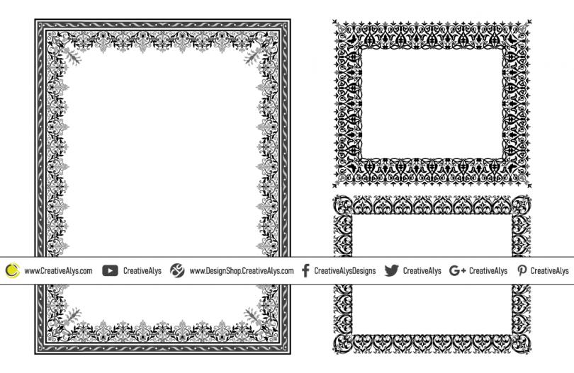 Ornamental-Vector-Frames