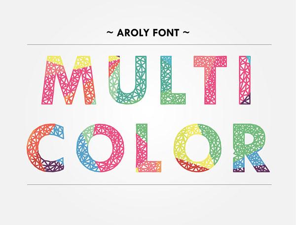 Aroly Multi Color Font