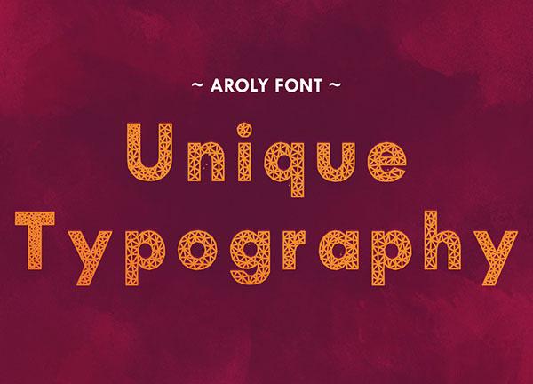 Aroly Unique Typography