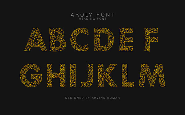 Aroly Font Capital Letters