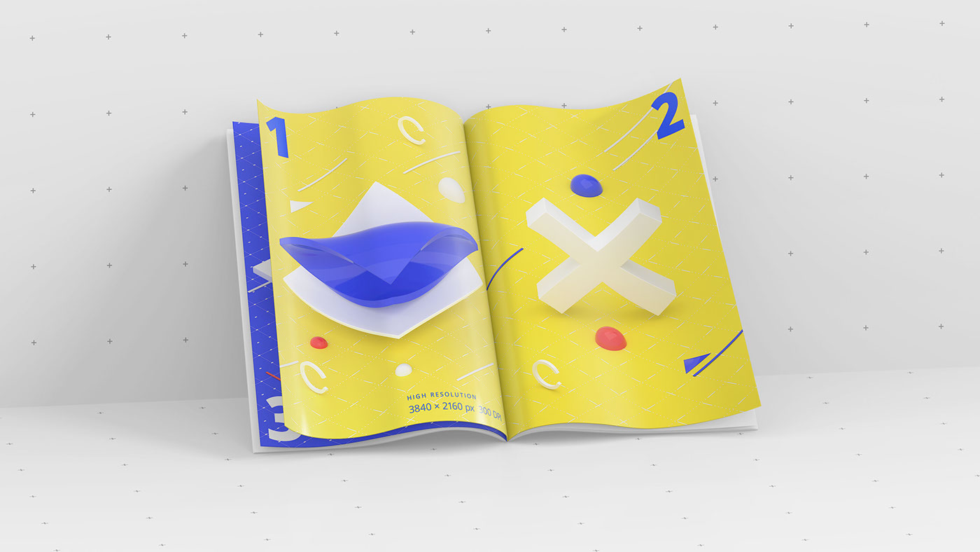 magazine mockup - open