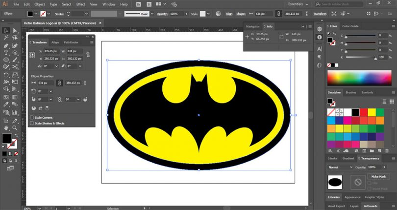 Create a Retro Batman Logo in Adobe Illustrator