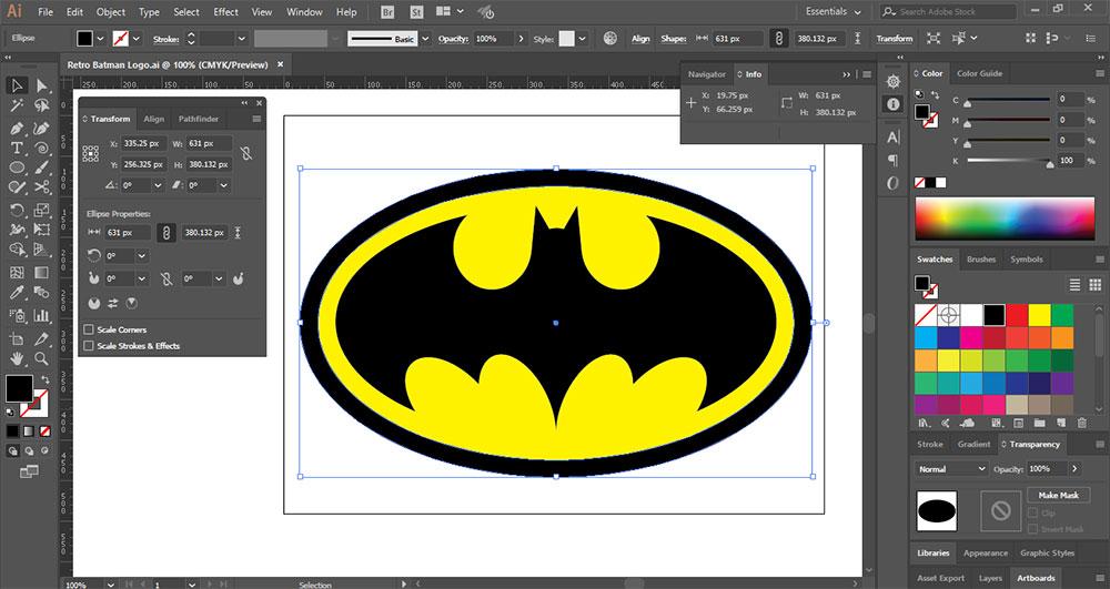 Create A Retro Batman Logo In Adobe Illustrator Creative Alys
