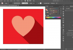 Create a Flat Heart Icon with Long Shadow in Illustrator