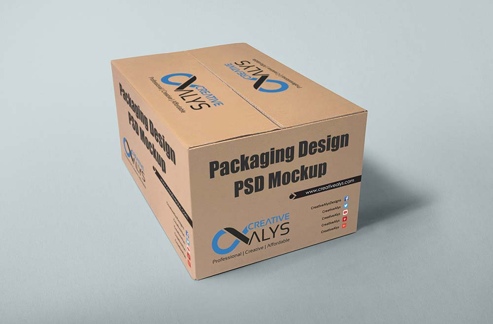 Carton Packaging Design Psd Mockup Creative Alys