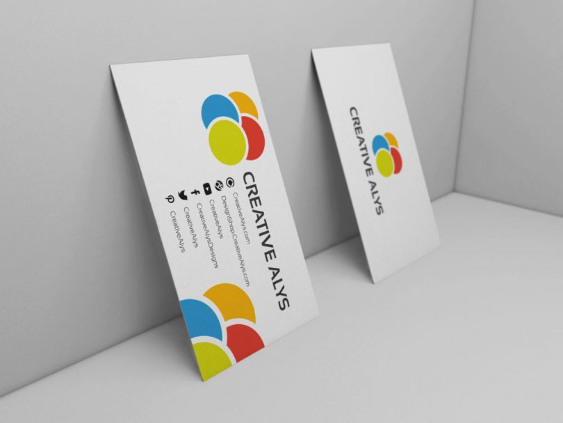 3D Business Card PSD Mockup – Creative Alys