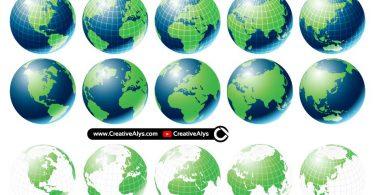 3D-Vector-Globes