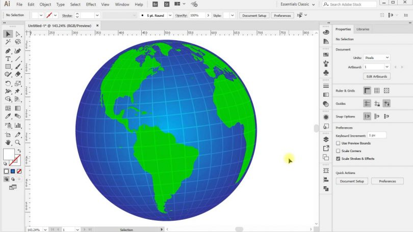 How-To-Create-3D-Vector-Globe-in-Adobe-Illustrator