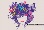 Beautiful-Woman-Head-Floral-Vector-Artwork