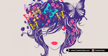 Beautiful-Woman-Head-Floral-Vector-Artwork