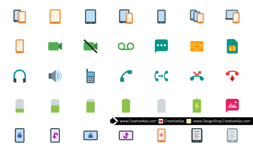 Flat-Mobile-Icons