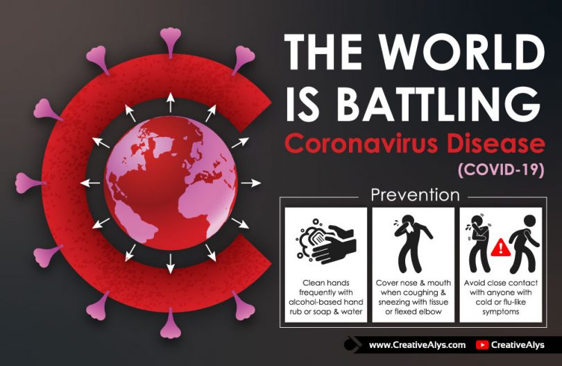 World-Is-Battling-Coronavirus-Vector-Illustration