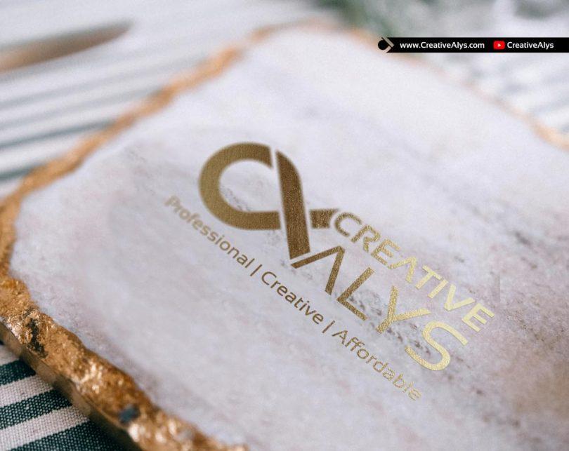 Gold-Plated-Logo-Mockup